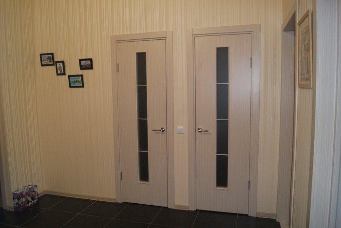 Стандартный размер дверей для ванной и туалета – 60 × 190 см